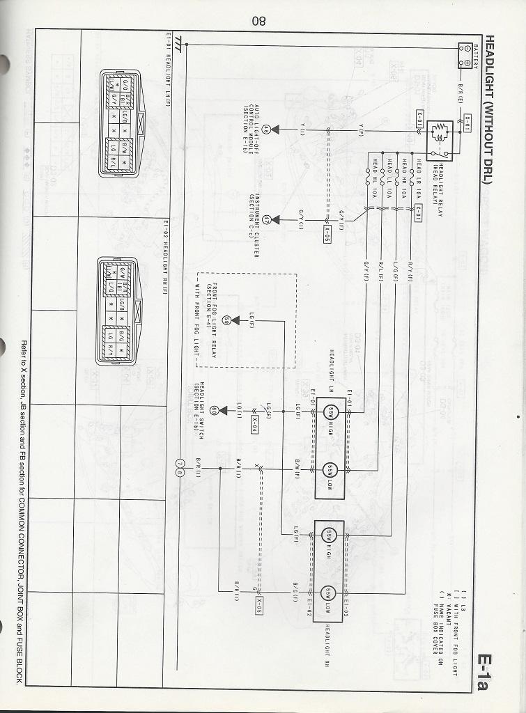 hi beam wiring digram mazda 6 forums mazda 6 forum. Black Bedroom Furniture Sets. Home Design Ideas