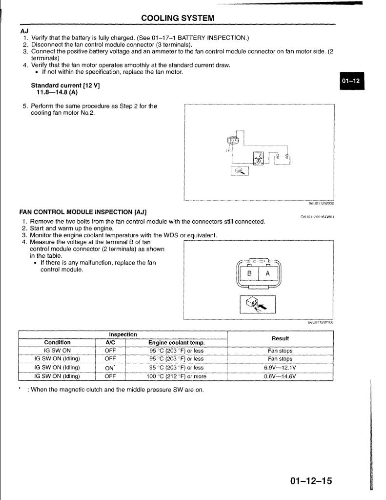 2003 Mazda 6 Cooling Fan Wiring Diagram - Wiring Diagram G8