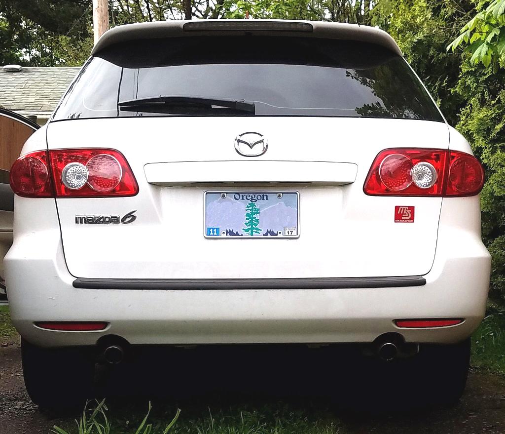 2005 Mazda Mazda6 Exterior: 2003-2005 Exhaust Tips Chrome For Non-Sport Trim OEM 0000