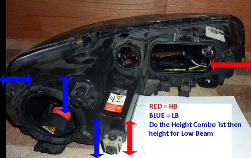Headlight Adjustment 2005 2007 2006 Hid No Fog Thumbwheel