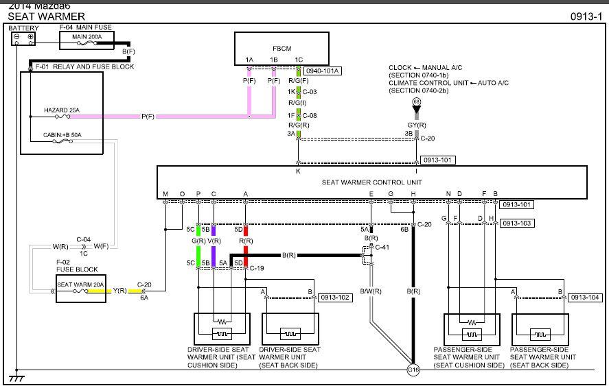 [SCHEMATICS_4FD]  Seat Heater Find and Wiring   Mazda 6 Forums   Seat Heater Wiring Diagram      Mazda 6 Forums