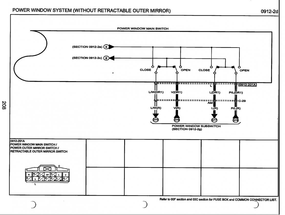 Electrical Wiring Side Mirrors Mazda 6 Forums Forum Power Window Diagram Click Image For Larger Version Name 4 Views 723 Size 868
