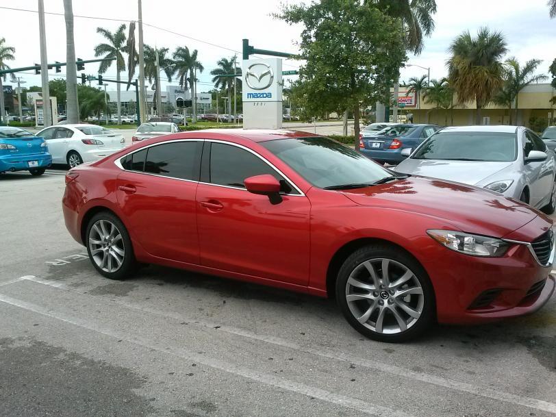 Red Window Tint >> Window Tint Job on '14 Mazda 6 Touring - Mazda 6 Forums : Mazda 6 Forum / Mazda Atenza Forum