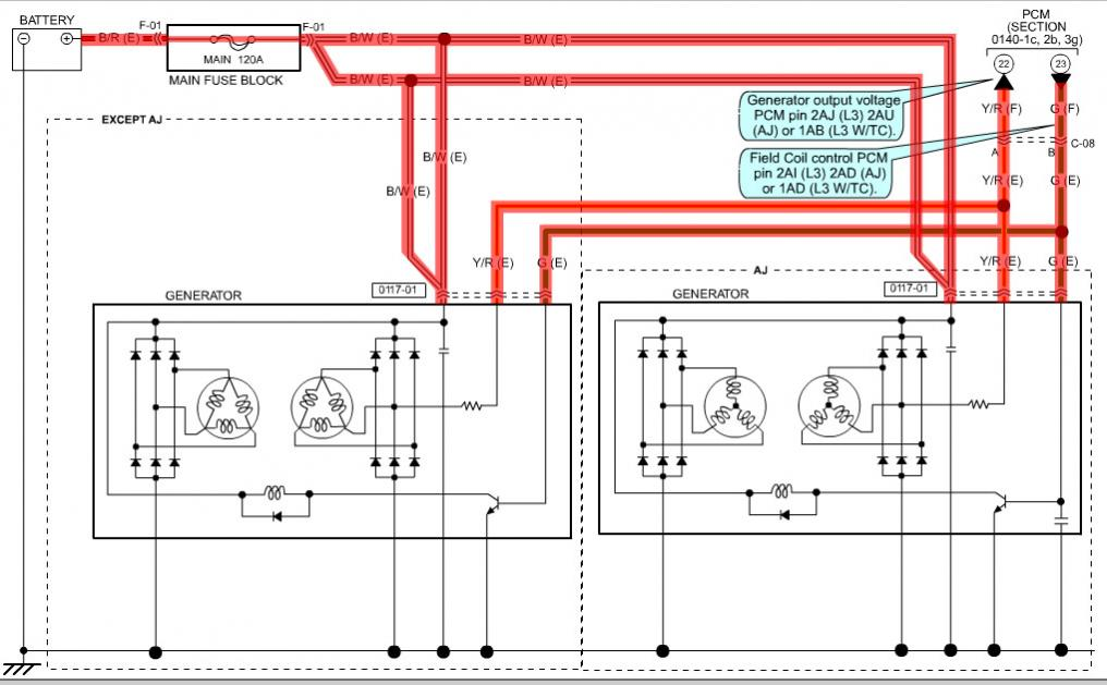 Repeated Alternator Failureschargingsystem: Mazda 626 Alternator Wiring Diagram At Jornalmilenio.com