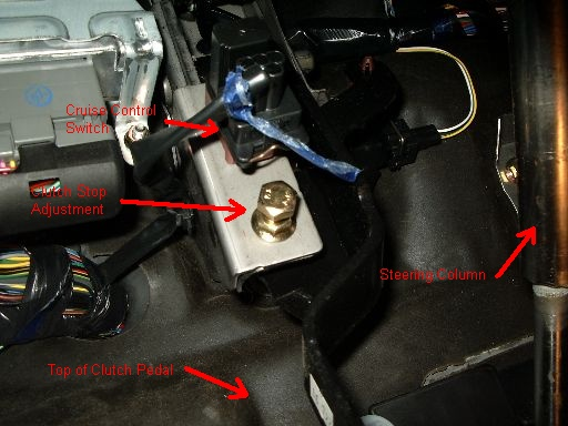 D Diy Clutch Pedal Adjustment Clutch Stop Adjust on 2003 Mazda Mpv 3 0 Engine