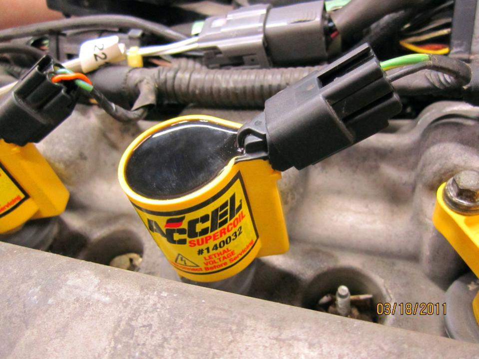 ACCEL Ignition Coil Upgrade for 3.0 ltr-coilonenginecloseup.jpg