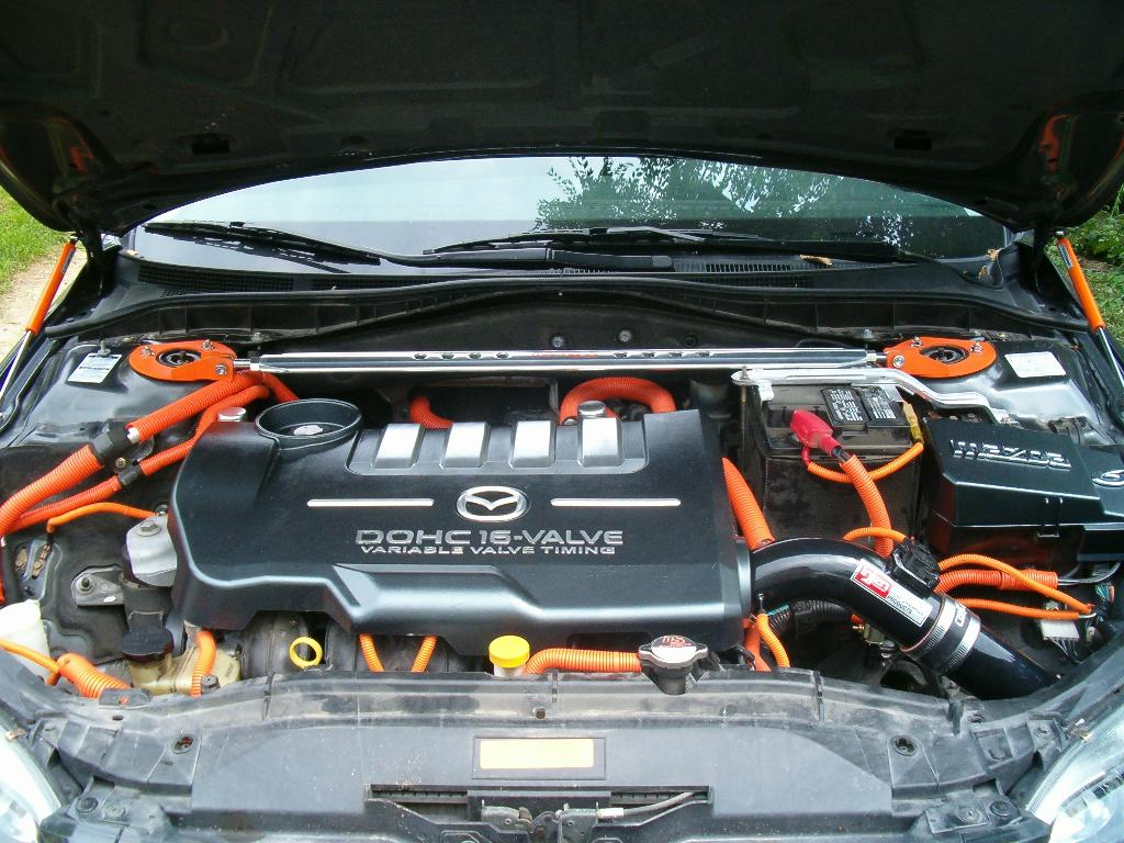 orange accented engine bay - mazda 6 forums : mazda 6 forum
