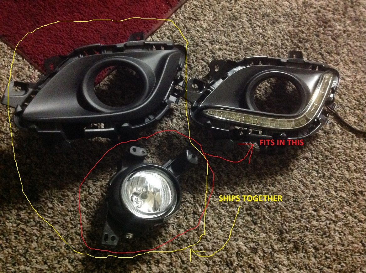 LED DRL and Fog light install - Mazda 6 Forums : Mazda 6 Forum ...