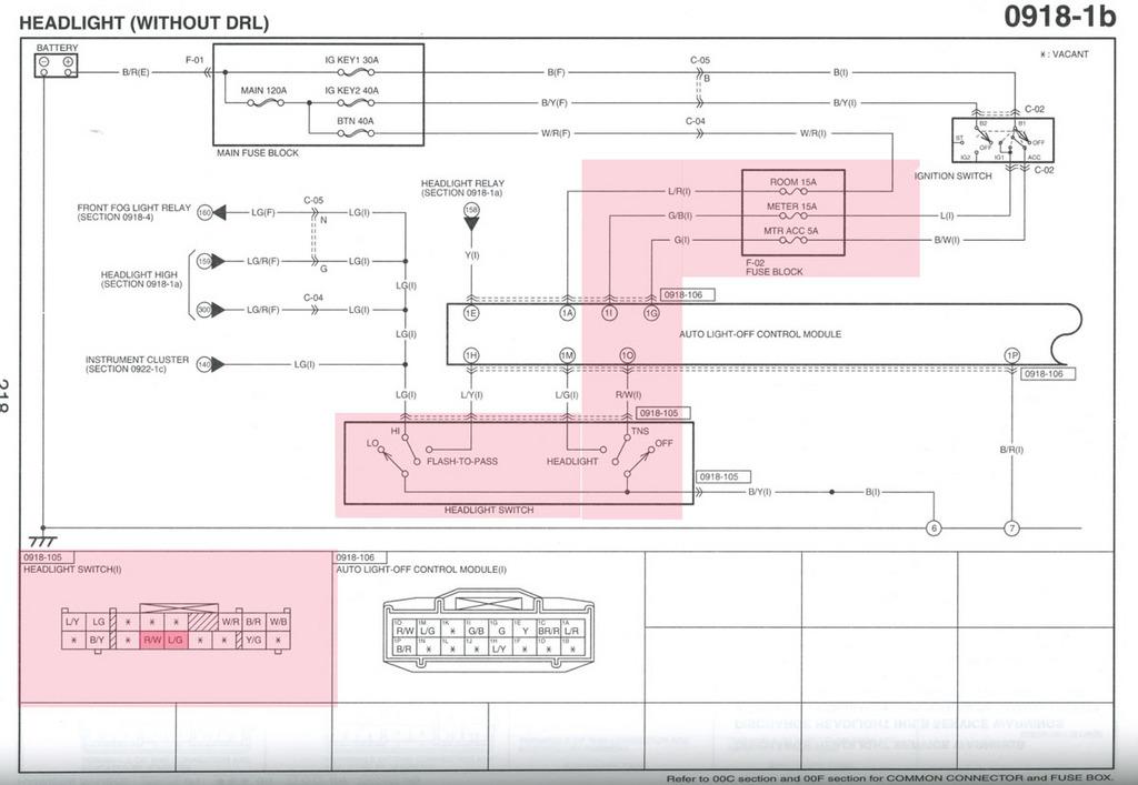 2005 Mazda 3 Headlight Wiring Diagram