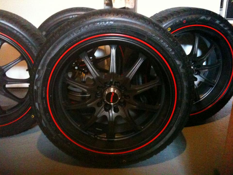 Ft 17 Quot Fast Quot Stagg Quot Rims Black With Red Lip Mazda 6