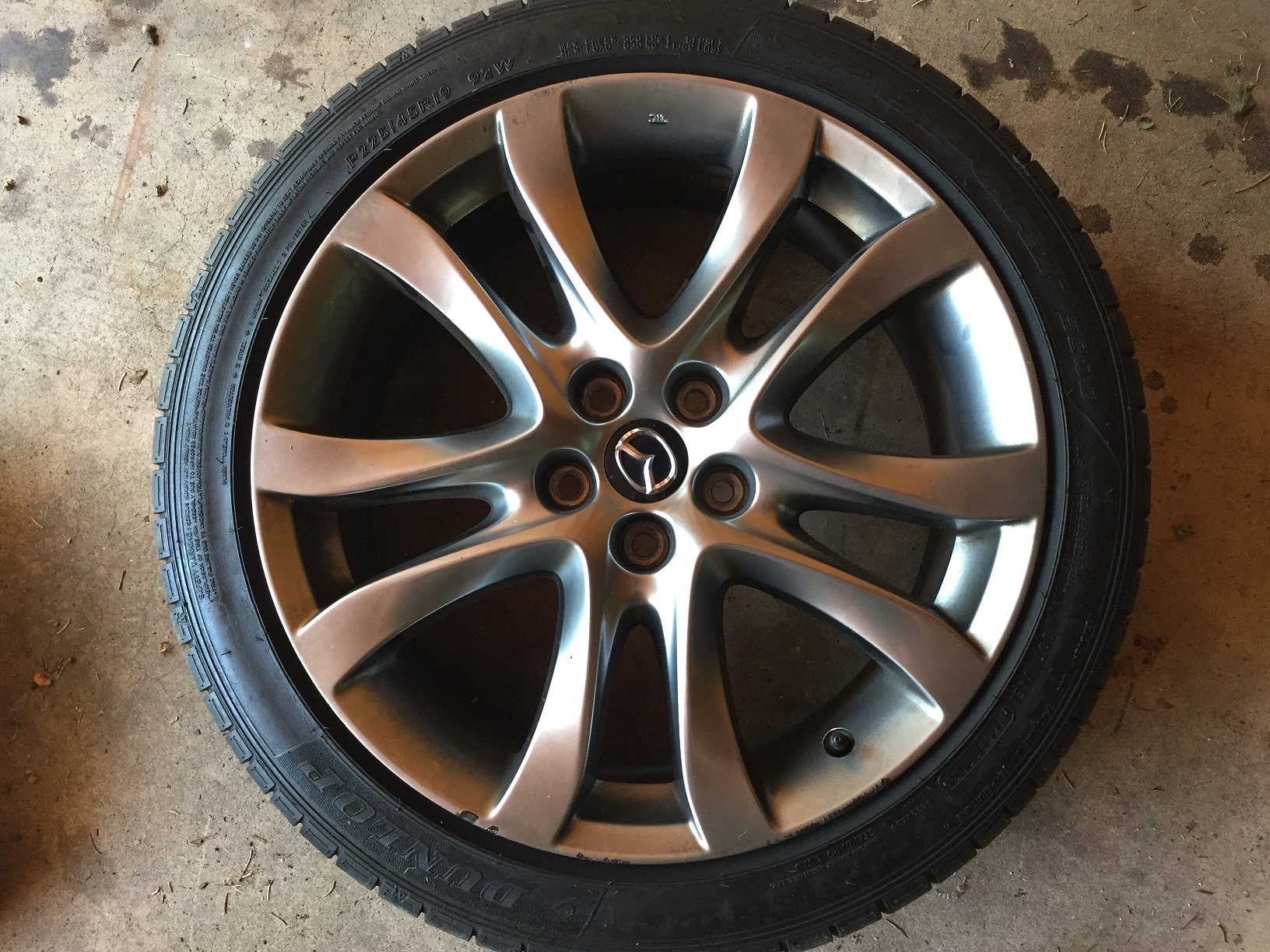2014 mazda 6 tire size
