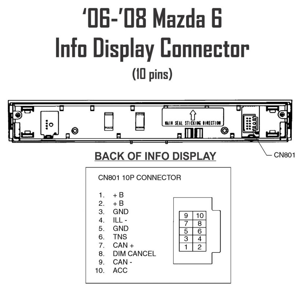 6 Double Din Page 4 Mazda Forums Forum Wiring Harness Click Image For Larger Version Name Infodisplayconnector Views 4800 Size 714