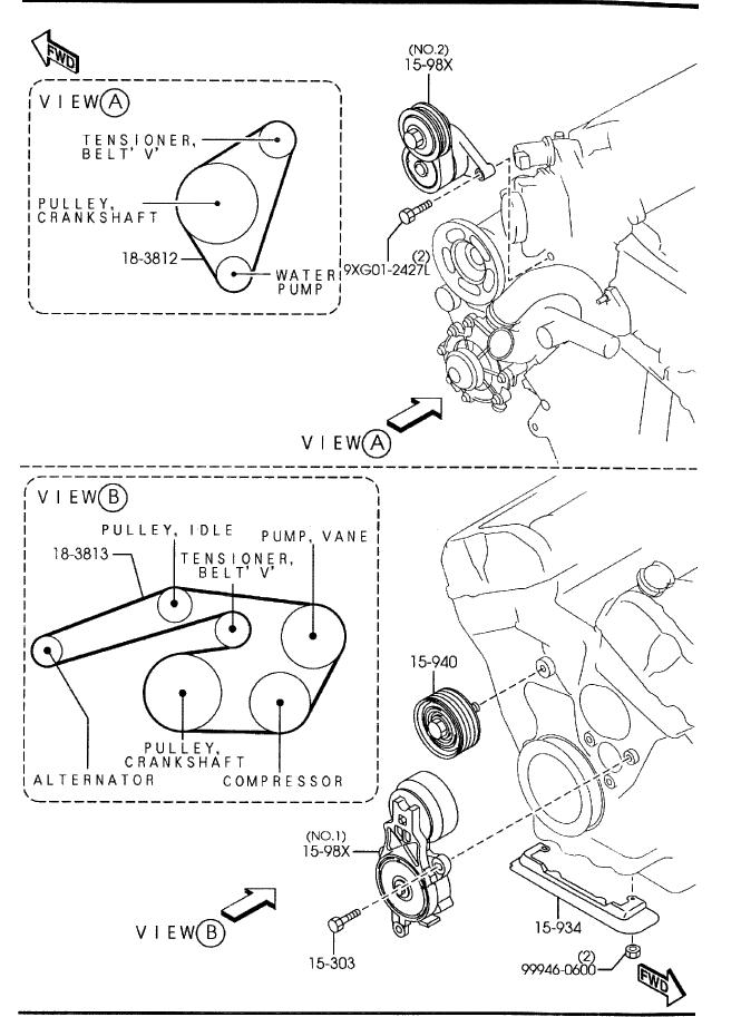 Serpentine Belt Routing Mazda 6 Forums Forum Rhforummazda6club: Mazda 6 2004 Alternator Wiring Diagram At Elf-jo.com