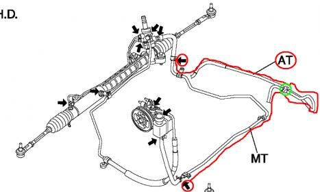 D Power Steering Leak Driver Side Mazda Power Steering Line