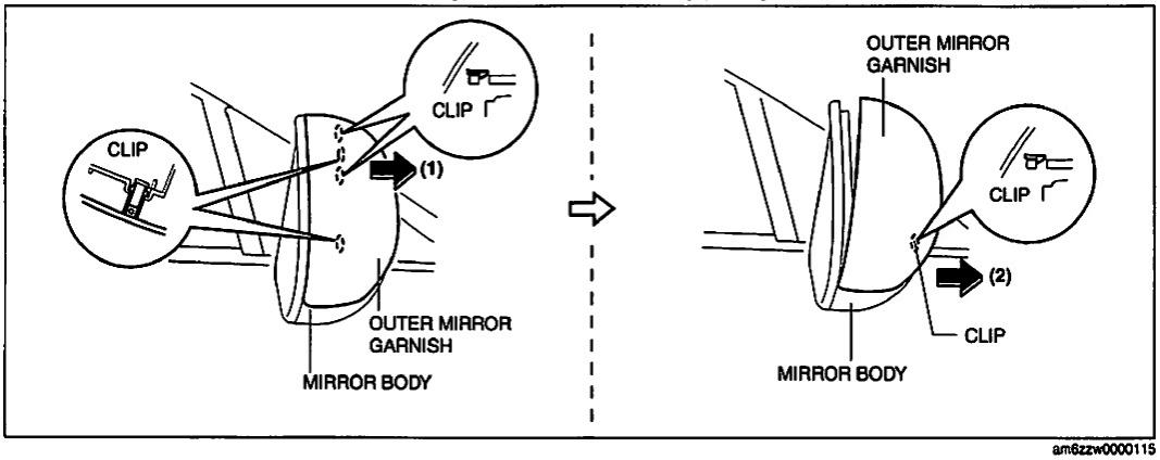 how to remove side mirror cap