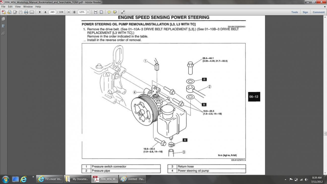 Power Steering Pump Mazda 6 Forums Forum Atenza Cx 7 Engine Diagram Click Image For Larger Version Name Ps Views 3485 Size